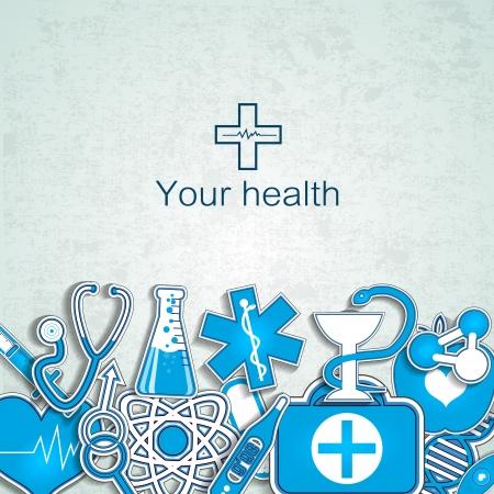symbol of pharmacy: Medical background