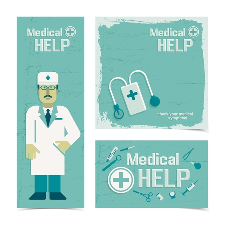 Medical banners set  Vector Illustration, eps 10, contains transparencies  Vector