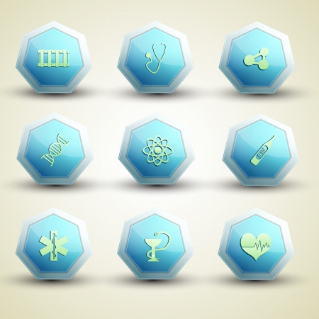Medical icons set  Vector Illustration, eps 10, contains transparencies  Vector