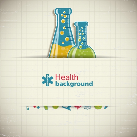 Medical background  Illustration,  contains transparencies  Stock Vector - 19008872
