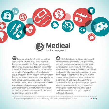 pielęgniarki: Medical Illustration tło, zawiera folii