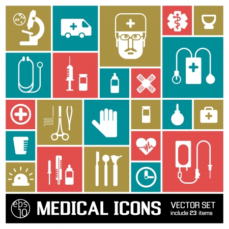 Medical background  metro style  Illustration,  contains transparencies  Vector
