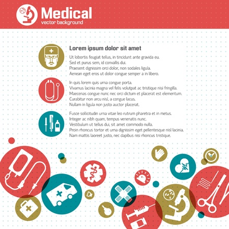 Medical background  Vector Illustration, eps 10, contains transparencies