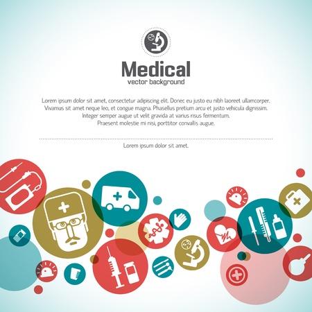 obvaz: Medical pozadí ilustrace, obsahuje fólie Ilustrace