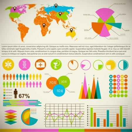experte: Business-Diagramm-Vorlage mit Textfeldern Illustration