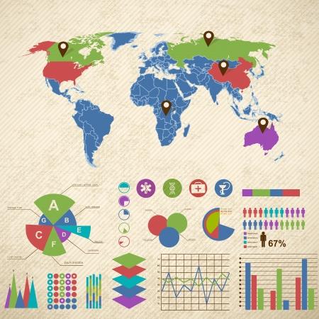 catalog: Plantilla de diagrama con los campos de la ilustraci�n del texto Vectores
