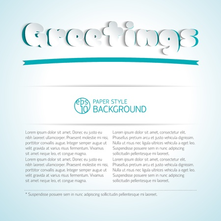 Abstract background with words in paper style Illustration,  contains transparencies  Stock Vector - 19315303