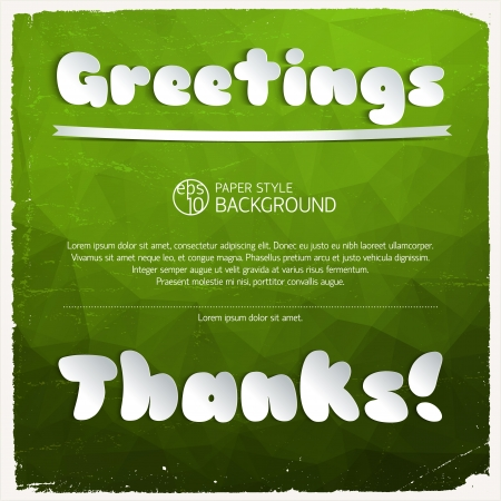 Greeting signature cut from paper Illustration,  contains transparencies  Vector