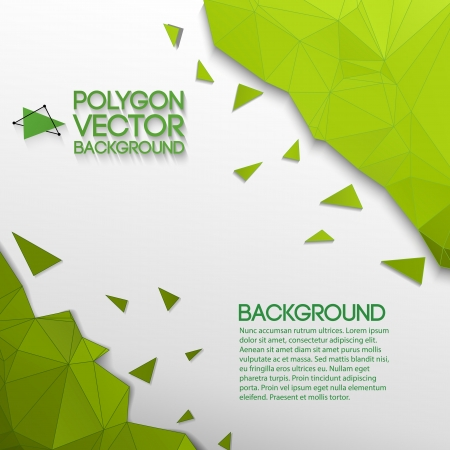 square composition: Abstract triangle background  Illustration,  contains transparencies