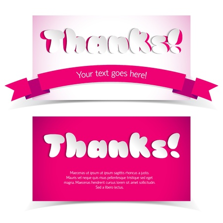 Greetings cards in paper style Illustration, contains transparencies  Vector