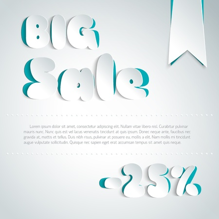 Sale background in paper style  Illustration,  contains transparencies  Stock Vector - 19316476