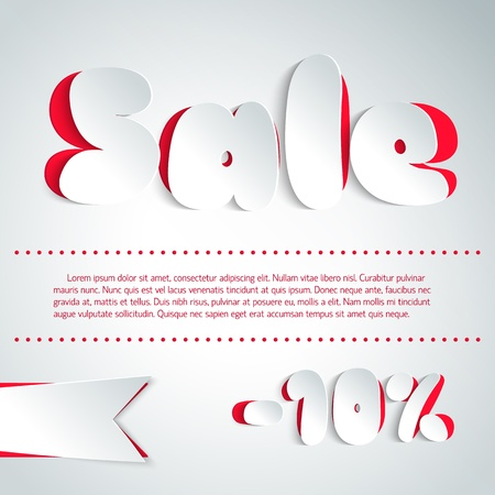 Sale background in paper style Illustration,  contains transparencies  Vector