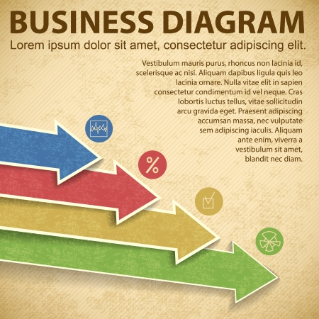 catalogue: Business diagram template with text fields  Vector Illustration, eps10, contains transparencies