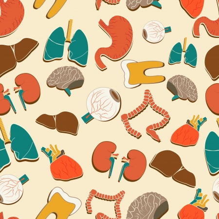 Medical background  Seamless pattern  Vector