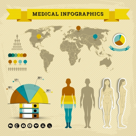 Medical infographic set Illustration, contains transparencies  Vector