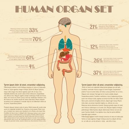 Infographie m�dicale set Illustration, contient les transparents