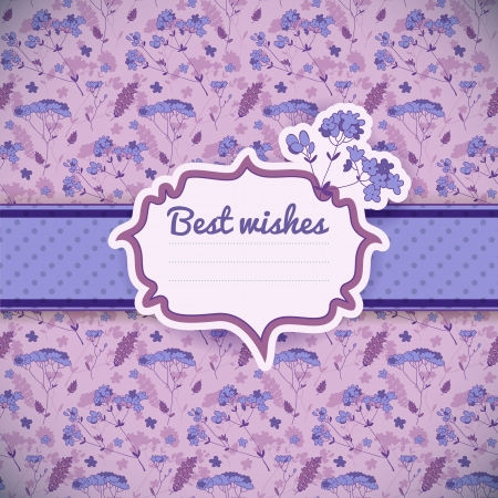 Vintage flowers background  Greetings card   Illustration, contains transparencies  Vector