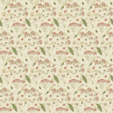 Vintage flowers background  Illustration, contains transparencies  Vector