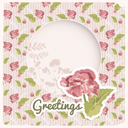 Vintage flowers background  Vector Illustration, eps10, contains transparencies  Vector