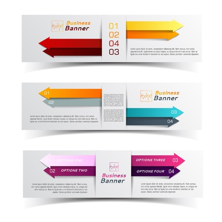 Business concept banners set  Vector Illustration, eps10, contains transparencies  Vector