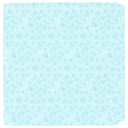Vintage flowers seamless pattern  Vector Illustration, eps10, contains transparencies  Vector