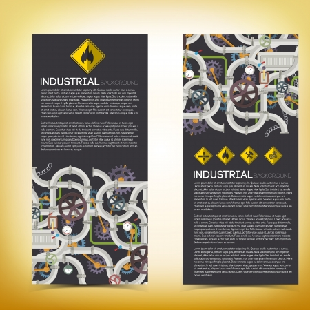 Industrial banners with text fields  Vector Illustration, eps10, contains transparencies  Vector