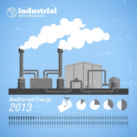 factory: Factory pipes with smoke  Vector Illustration, eps10, contains transparencies  Illustration