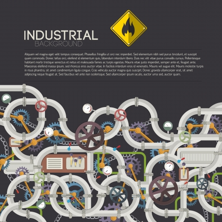 Industrial background with text fields Illustration, contains transparencies  Stock Vector - 20324478