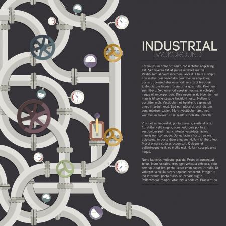 industriale: Industriali con campi di testo illustrazione vettoriale, eps10, contenente i lucidi