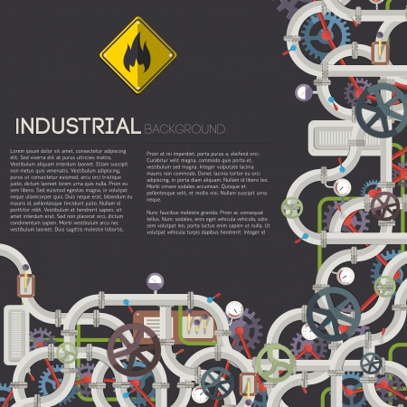Industrial background with text fields  Vector Illustration, eps10, contains transparencies  Vector