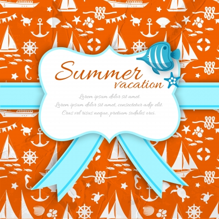 Summer background. Illustration and contains transparencies. Vector