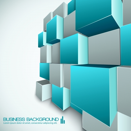 rectangle: 3d abstract background Illustration