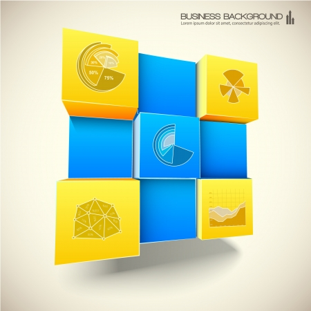 3d abstract background Illustration Vector