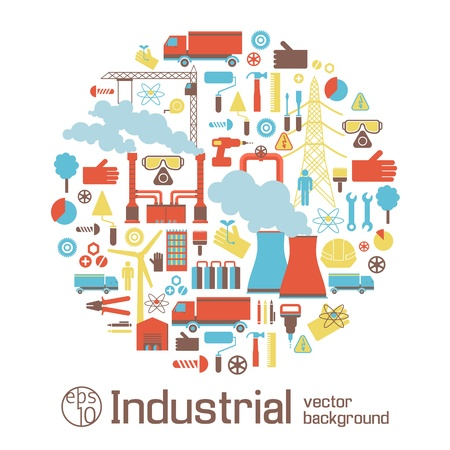 steel industry: Industrial background Illustration
