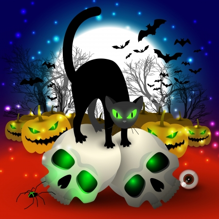 Halloween Party Background Illustration Stock Vector - 20641823