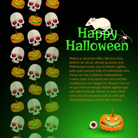 Halloween Party Background Illustration Vector