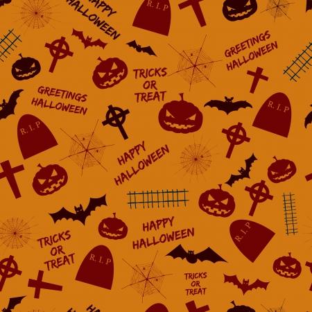 Halloween seamless pattern Illustration Vector