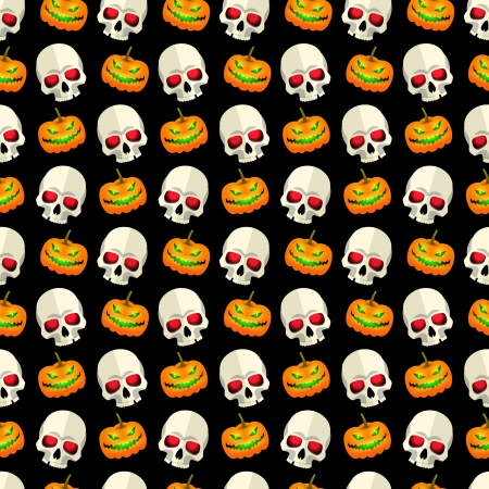 Halloween seamless pattern Illustration Vector