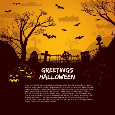 cementerios: Fiesta de Halloween ilustraci�n de fondo
