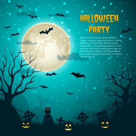 house party: Halloween Party Background Illustration Illustration
