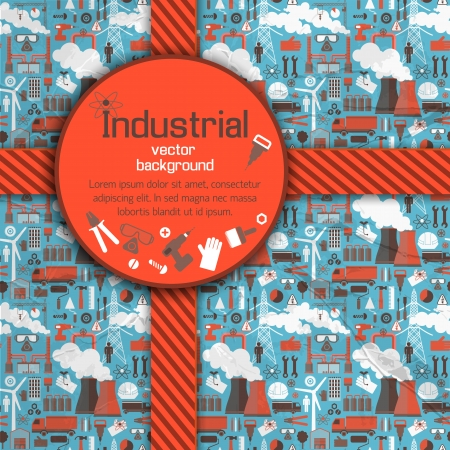 Industrial background Illustration Vector