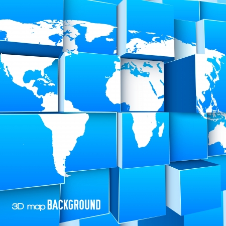 abstract 3d blocks: Abstract background Illustration