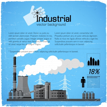 Industrial background Illustration Stock Illustration - 20641703
