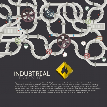 Industrial background with text fields Illustration Vector