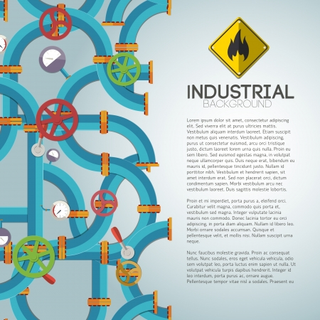 Industrial background with text fields Illustration Stock Illustration - 20641602