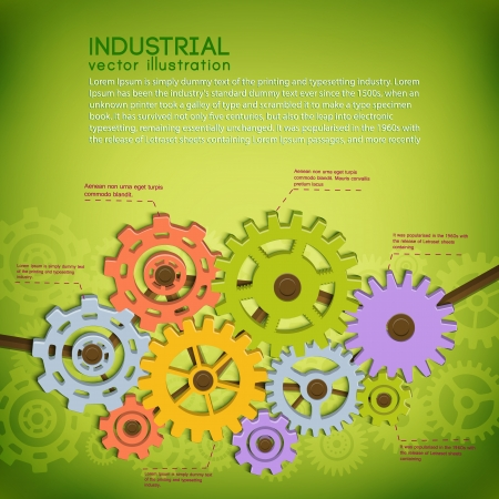 Industrial background with text fields  Vector Illustration, contains transparencies  Stock Vector - 20856415