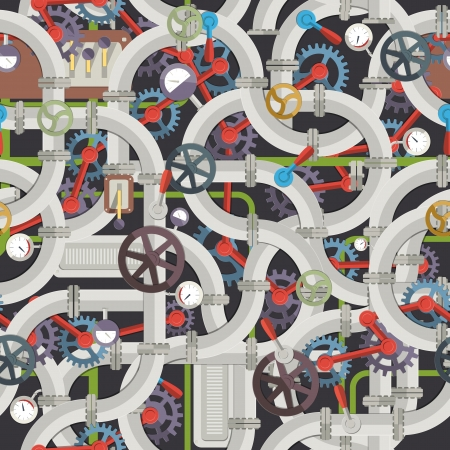 are industrial: Industrial seamless pattern  Vector Illustration, contains transparencies  Illustration