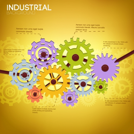 Industrial background with text fields  Vector Illustration,  contains transparencies  Stock Illustration - 20856435