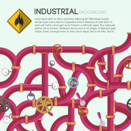 Industrial background with text fields  Vector Illustration,  contains transparencies  illustration