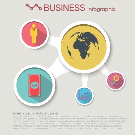 Business concept background  Flat style  Vector Illustration,  contains transparencies  illustration